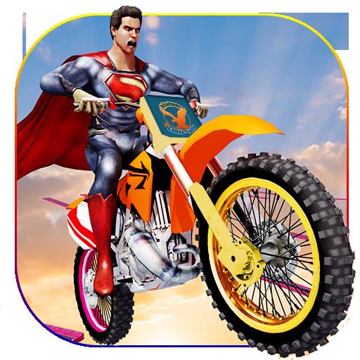 Incredible Superhero Stunt Bike Racing Games 2018