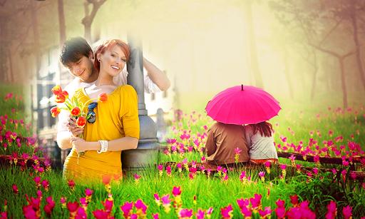 Love flower photo frames