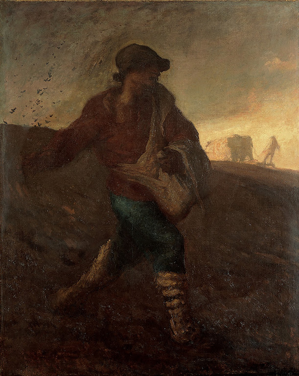 Jean-François Millet, De zaaier/The Sower, 1850, Yamanashi Prefectural Museum of Art, Japan