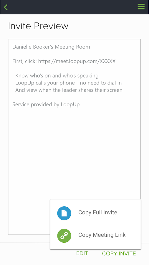 LoopUp- screenshot