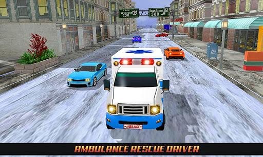 Code Triche Ambulance Rescue Driving 2017 mod apk screenshots 6