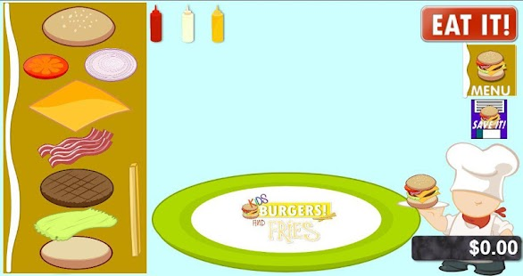 Kids BURGERS & Fries!!- screenshot thumbnail