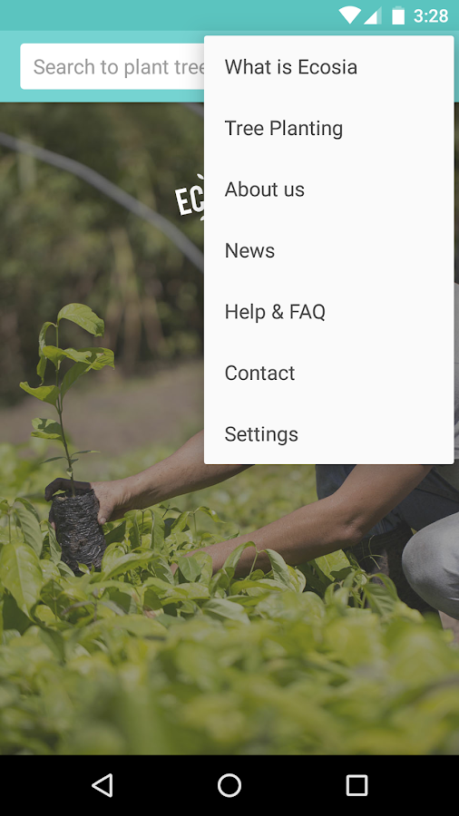 Ecosia- screenshot