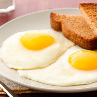 Fried Eggs, Sunny Side Up.