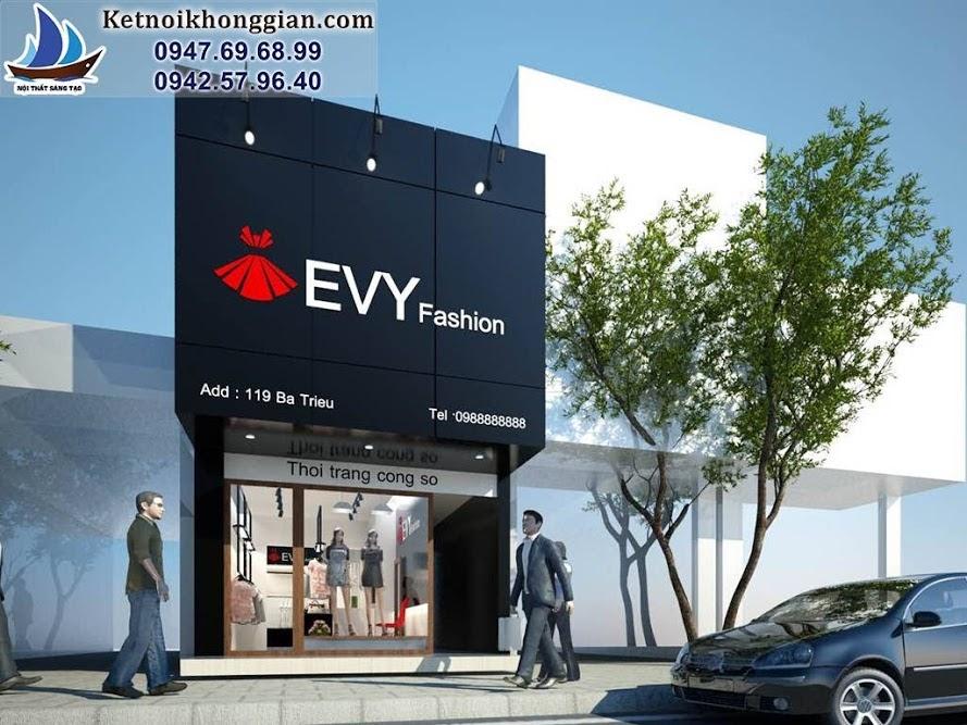 thiết kế shop thời trang công sở Evy