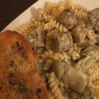 Pasta with Chicken Sausage and Artichoke Hearts