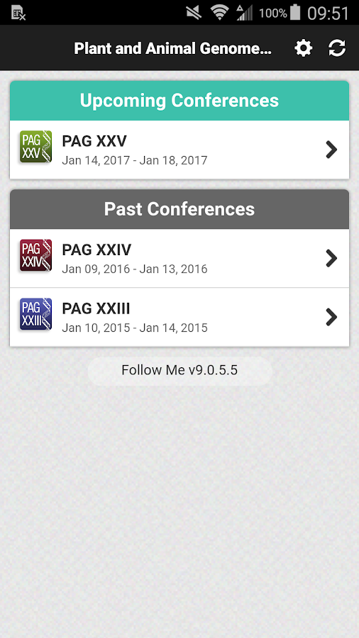 PAG Conferences- screenshot