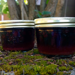 Spiced Pickled Canned Blackberries