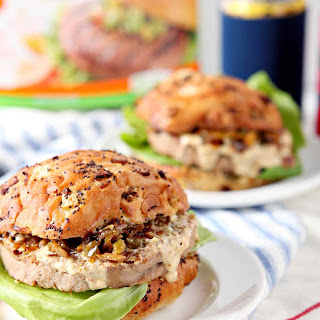 Louisiana Cajun Turkey Burgers with Étouffée Relish and Creamy Cajun Sauce.