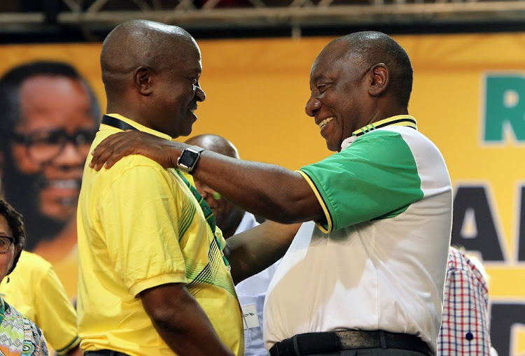 David Mabuza and Cyril Ramaphosa. Picture: SIMPHIWE NKWALI