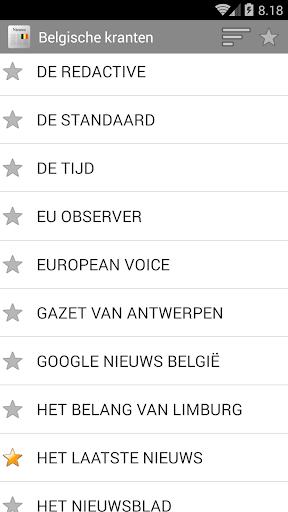 Belgischen Zeitungen
