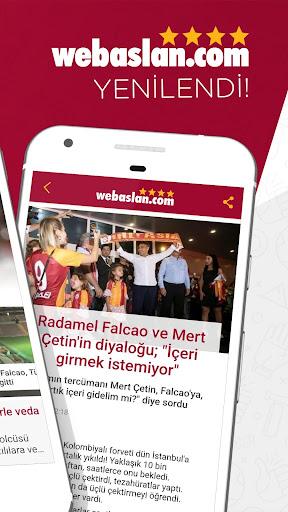 Webaslan - Galatasaray haberleri & Canlı Skor 4.22.09 screenshots 2