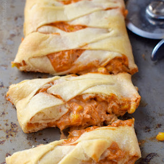 Chicken Enchilada Crescent Braid