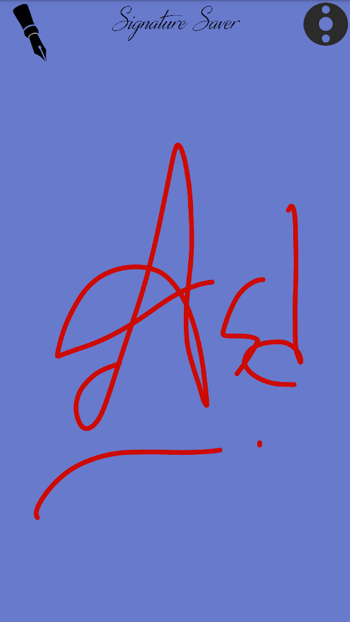 Signature Saver- screenshot