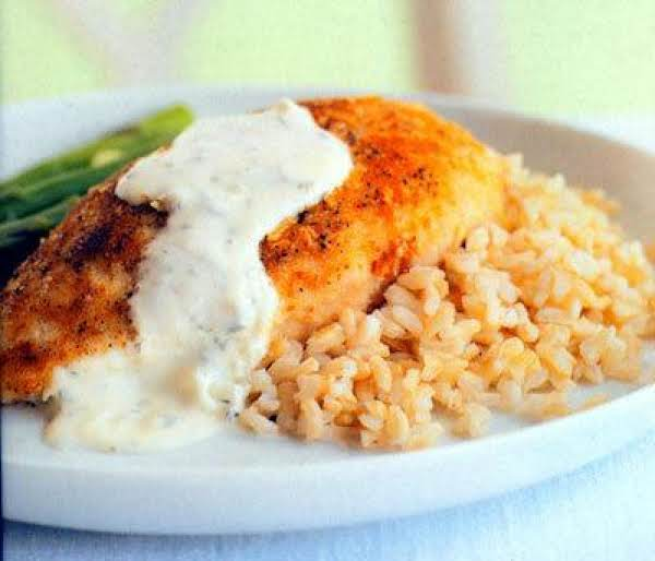 Parmesan Crusted Chicken In Cream Sauce Recipe