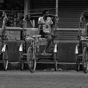 Rishaw by Soham Banerjee - Transportation Other ( street, transportation, people )