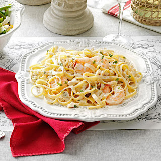 Fettucine Seafood Alfredo.