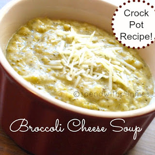Slow Cooker Broccoli Cheese Soup.