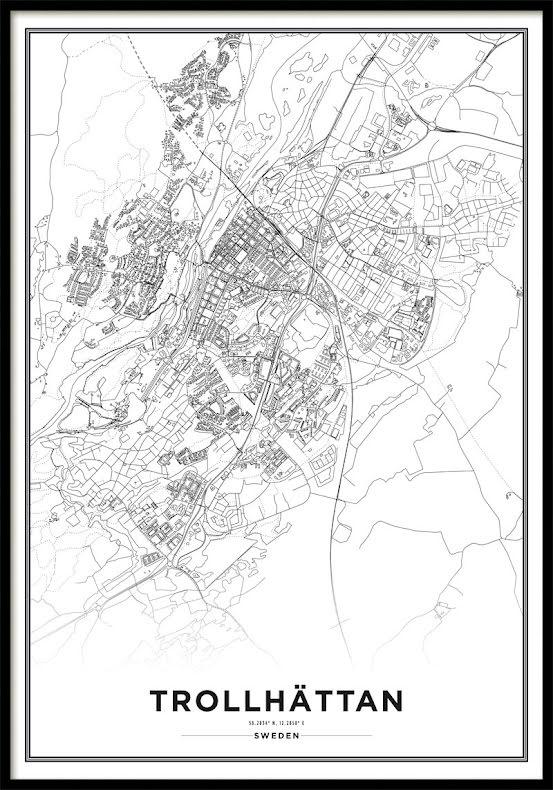 Karta Poster, Trollhättan