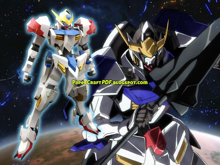Gundam Barbatos Lupus Papercraft Model Free Download