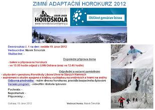 Photo: Zimní adaptační horokurz 2012. Denní rozkaz č. 1.