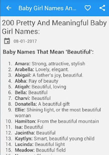 Baby girl names and meanings apps on google play screenshot image negle Gallery