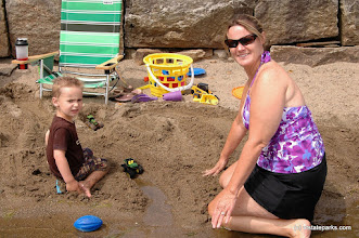 Photo: Building sand sculptures at Crystal Lake State Park by Renee McWilliams