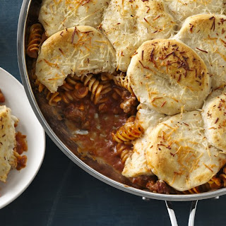 Creamy Lasagna Skillet Pot Pie