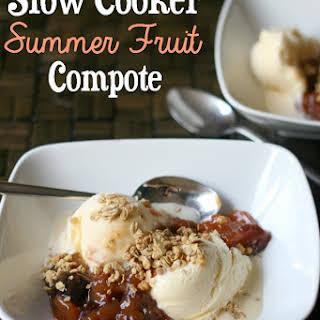 Slow Cooker Summer Fruit Compote.