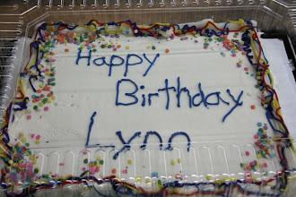 Photo: Happy Birthday Lynn Bailets!  Thanks to his wife Kathy -- that was good cake!