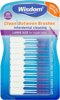 Wisdom Interdental Cleaning Clean Between Brushes - Purple, 20 Brushes