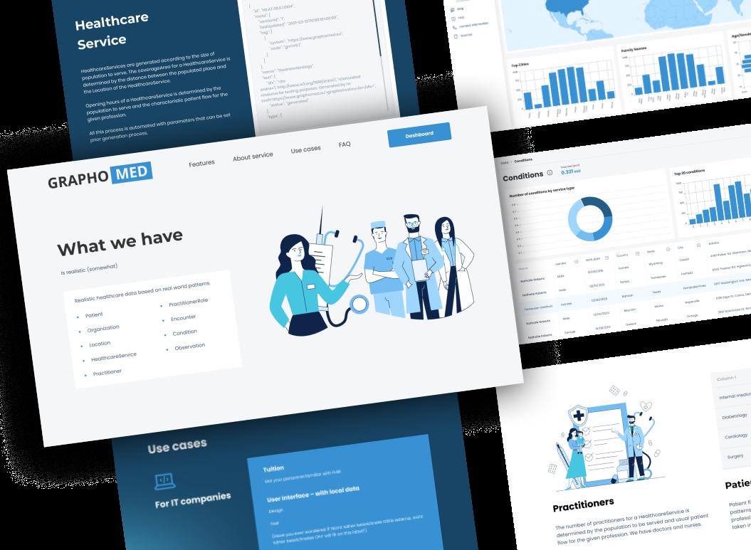 Healthcare website design for Graphomed.
