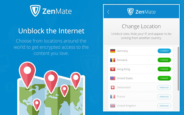 Zenmate vpn best cyber security unblock chrome web store zenmate premium and features stopboris Images