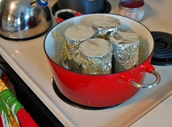 Grease and flour the cans well. Divide batter evenly among the 4 cans. Cover...