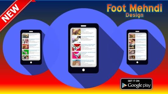 Foot Mehndi Design - náhled
