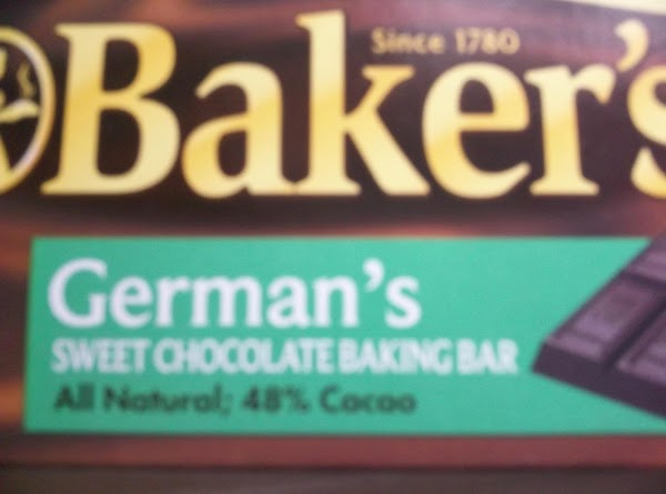 Chop or grate (I chop mine) the Baker's German chocolate bar and set aside....