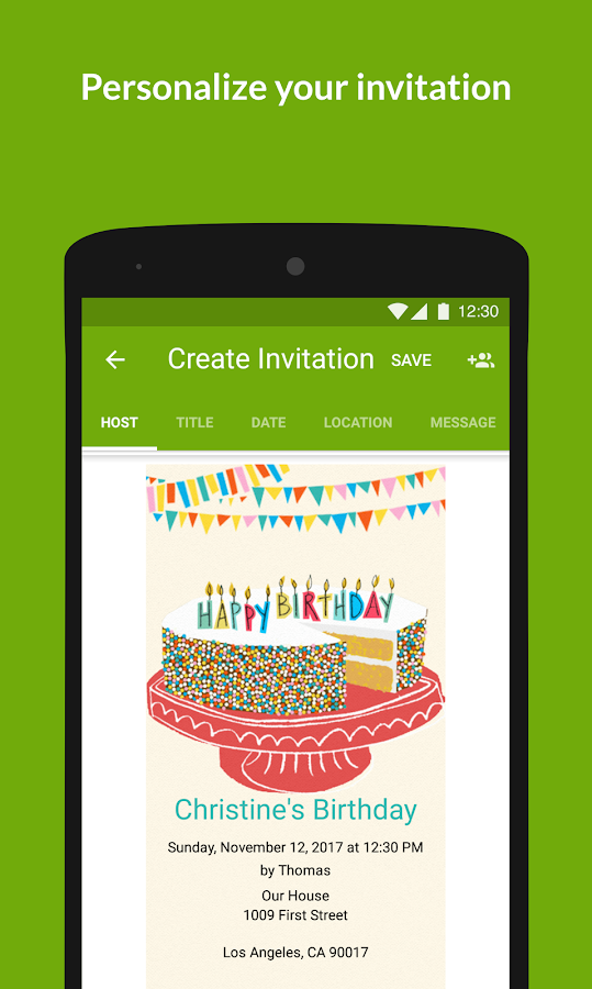 Evite Invitations & Guest RSVP - Android Apps on Google Play