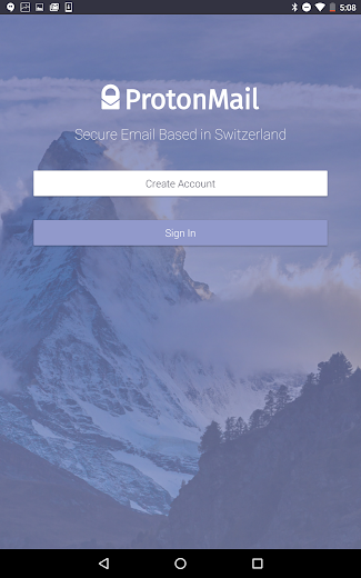 Screenshot 4 for ProtonMail's Android app'