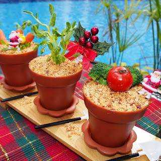 Christmas Potted Plants Potato Salad Potluck