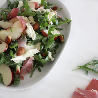 White Nectarine & Prosciutto Salad with Maple Dressing