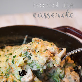 One Pot Cheesy Chicken Broccoli Rice Casserole