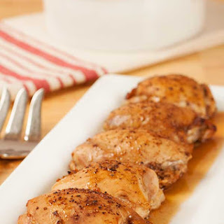 Oven-Roasted Chicken Thighs.