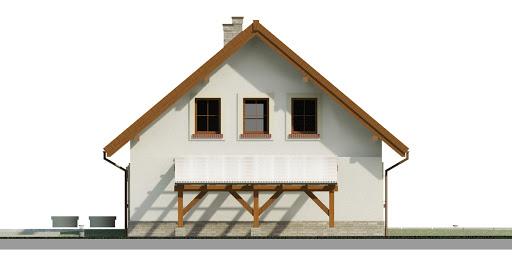Dom przy Cyprysowej 52 - Elewacja prawa