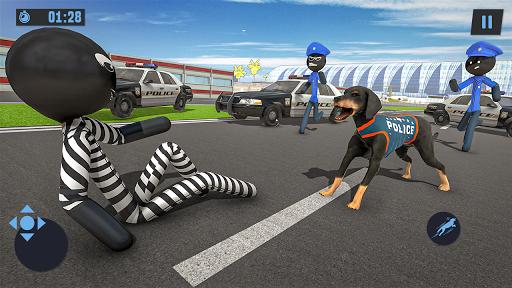 Stickman Police Dog Chase Crime Simulator screenshots 1