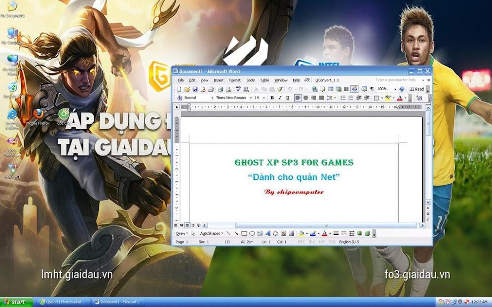 Download bản ghost windows XP dành cho phòng net