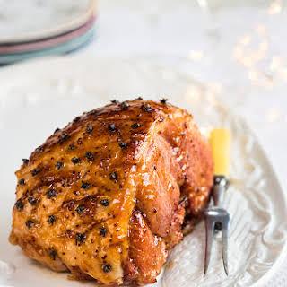 Apricot And Mustard Glazed Ham.