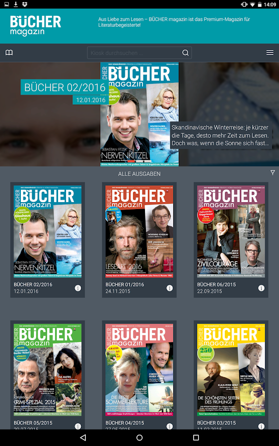 BÜCHER magazin- screenshot