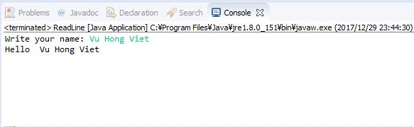 Java - Đọc giá trị nhập vào