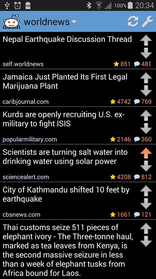 Reddinator: An App for Reddit - screenshot