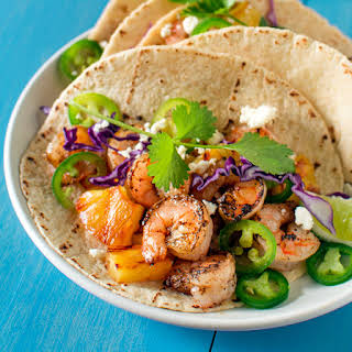 Grilled Shrimp and Pineapple Tacos.